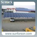 cochera de aluminio del panel solar de montaje marcos