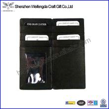 de alta calidad de cuero genuino cartera de magia clip de dinero
