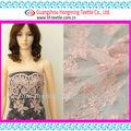 brillante de color rosa bordado de malla con diseños cuerda compuesto de poliéster y tela de hilo a la falda de ladys