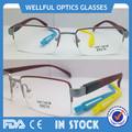 2014 nueva llegada de la mitad del borde de titanio marcos de anteojos con lentes de ca