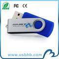 alta calidad azul giratorio memoria USB para promoción