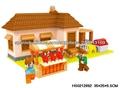 Edificio serie de bloques nuevos de los niños