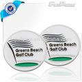 verdes de la playa de plata del esmalte de metal marcador de la bola