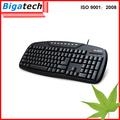 newwest de la computadora con conexión de cable del teclado teclado turco