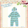 2014 Nuevo diseño infantil ropa de bebé de algodón 100% Color de Raya mameluco del bebé