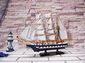 45cm de madeira decorativa catamarã de barcos à vela