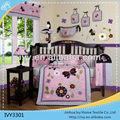 La flor y la mariposa de impresión de ropa de cama cuna al por mayor conjunto