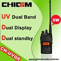 tailandia dualband banda 5w de radio fm de radio