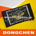 La costumbre baratos el famoso logotipo falso diseñador de etiquetas tejidas, etiqueta de la tela