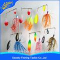 caliente de la pesca de aparejos de pesca tipo de pez spinner cebos