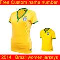 las mujeres 2014 brasil copa del mundo de venta al por mayor original camiseta de fútbol