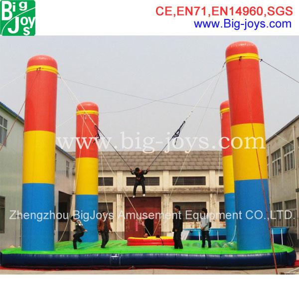 Atractivo 4 personas inflable bungee jump, 4 en un inflable bungee para la venta