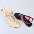 señoras 2014 flipflops jalea sandalias sandalias de cristal al por mayor de perforación sandalias decorativas