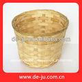 profundo de bambú contenedor cesta de artículos diversos