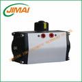 china gt neumático único efecto rotary actuador de la válvula con el común de la oxidación anódica el cuerpo del cilindro