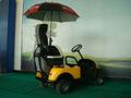 solo asiento carrito de golf eléctrico, vehículo utilitario eléctrico con regulador de Curtis