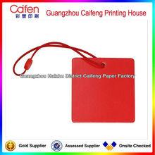 Producto respetuoso del medio ambiente/rojo prendas de vestir de la ficha de la mano