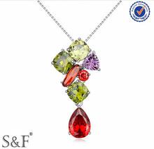 Yiwu 2014 joyería, aaa joyería del diamante, natural de diamantes de imitación de la joyería