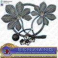 ornamental fence design cast iron elements wrought iron rosettes