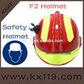 de color rojo con amarillo reflectante casco de rescate de emergencia casco