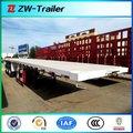 Chino 2014 plano semi remolque de camiones, contenedor de camión de carga dimensión