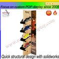 2014 Personalizado Carton Display Stand para zapato de tienda de moda