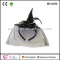 señoras negro mini sombrero de bruja con velo negro accesorio para el pelo de disfraces de halloween traje