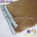 Alta calidad del pelo humano extensiones de cabello rizado de cinta