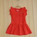 Arco del color sólido del bebé niña vestido 0.35kg/pcs
