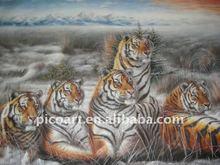 pintura al óleo animal