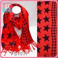 la mujer estampado de estrellas de invierno bufandas pashminas