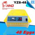 2014 recién diseñado 48 incubadora de huevos de aves de corral equipos fabricados en china