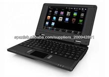 7 pulgadas vía 8850 mini netbook del ordenador portátil del androide 4.1 + Webcam + HDMI, RJ45 512 4GB mini ordenador portátil