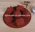 triángulo de la casa de chocolate de silicona del molde para hornear