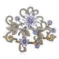Real de diamantes anillo de palma, natural tanzanite pear corte de piedras preciosas diseñador de cuatro dedos el anillo