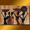 resumen mujer africana pintura sobre lienzo