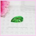 manzana verde de color de fantasía de corte de piedras preciosas circón