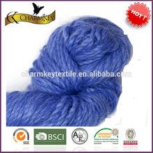 la contaminación no teñida de color sólido de hilados de lujo tejer la bufanda