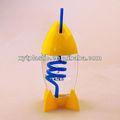 300ml venta caliente taza de plástico con paja