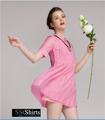 Hermosa sscshirts design100% baratos mini vestido