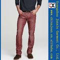 2013 rojo elegante palm color jeans para hombres capa color jeans denim de hombres (JXC30831)