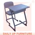 Ambiental pe/pp de jardín de infantes y escritorios sillas fijas de la escuela del estudiante y silla de escritorio conjunto