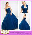 Venta caliente del amor trasero con cordones del vestido de bola rebordeó Tulle Quinceanera viste los vestidos azules (BG772)