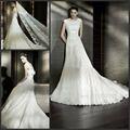Cuello Cuadrado WD-522 sin mangas vestido de novia vestido de novia