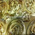 bordado rosa borda da folha de ouro ponto de poliéster fita de cetim bordado