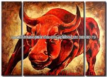 Pintura de la vaca Diseño caliente Animal moderna en lona decorativa para Hotel