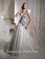 correa desmontable vestido de bola blanca trajes de las damas de larga duración en la boda