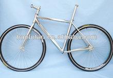 Carretera bicicleta de titanio marco di2 con funcionamiento del cable y la hélice superior/hacia abajo del tubo