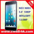 5.0 pulgadas IPS FHD MTK6589T Quad Core Android Móvil NEO N003