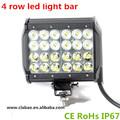 aurora led de luz de carretera de la barra, super brillante 72w 4 fila de led barra de luz
